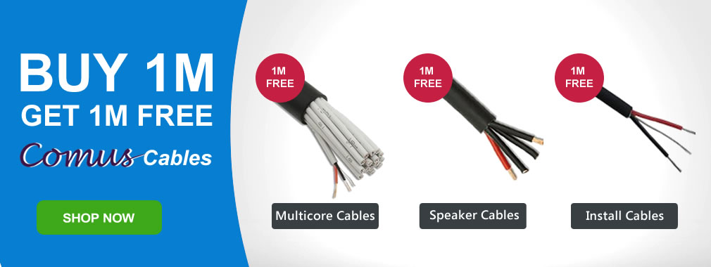 Buy 1 Get 1 Metre Free Comus Cables - New Arrivals