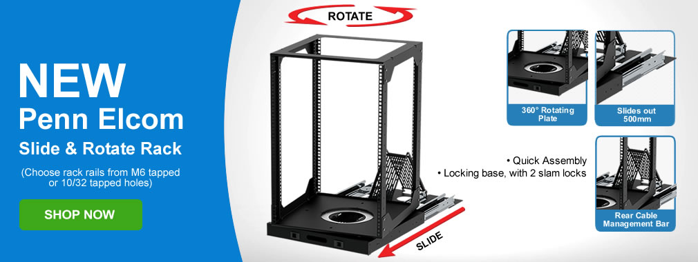 Slide and Rotate Racks by Penn Elcom