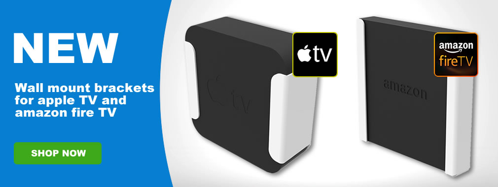 New wall mount brackets for Amazon fire and apple TV