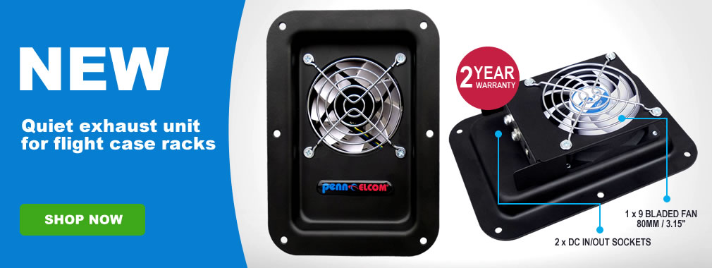 New CoolRac flight case exhaust fan unit FT80-Q-FC