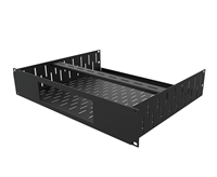 Penn Elcom 2U Vented Rack Shelf & Magnetic Faceplate For 1 x Sonos Amp R1498/2UK-SONAMP1