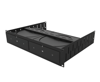 Penn Elcom 2U Rack Shelf & Faceplate Cut Out For 2 x Sonos Amp Units R1498/2UK-SONAMP2