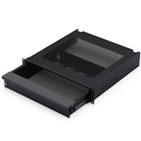 Penn Elcom 2U Rackmount Laptop Security Drawer, Black EX-6302
