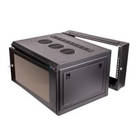 Penn Elcom 6U Double Hinged Wall Mount Rack Enclosure M6 R6406RHF-M6