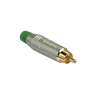 Amphenol RCA Cable Plug Satin Finish Green ACPR-SGR