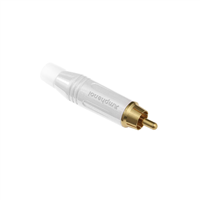 RCA Cable Plug White ACPR-WHT by Amphenol
