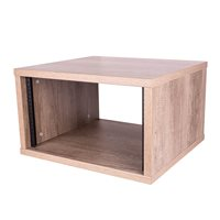 Penn Elcom 6U Nebraska Oak Effect Flat Pack Credenza - Depth: 500mm (19.69in) R8600-500-6UNO