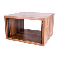 Penn Elcom 6U Tiepolo Walnut Effect Flat Pack Credenza - Depth: 500mm (19.69in) R8600-500-6UTW