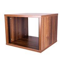Penn Elcom 8U Tiepolo Walnut Effect Flat Pack Credenza - Depth: 500mm (19.69in) R8600-500-8UTW