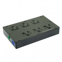 Comus Low Profile UK Plug Board Neutrik 20amp Powercon In/Out PDU6K1XCON20A-CON20B