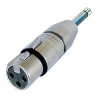 Neutrik Adaptor XLR Female to 1/4in Mono Jack Plug
