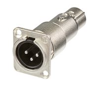 Neutrik Adaptor XLR Male-Female Feedthrough Chassis NA3MDF