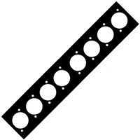 Neutrik Neutrik 8 Way Punched Plate For Modular Stage Box 8 x Unified D