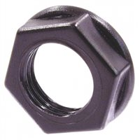 Neutrik Hexagonal plastic nut, black plastic