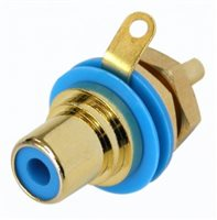 Neutrik Gold Plated RCA/Phono Socket - Blue Isolation NYS367-6