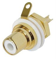 Neutrik Gold Plated RCA/Phono Socket - White Isolation NYS367-9