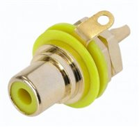 Neutrik Gold Plated RCA/Phono Socket - Yellow Isolation NYS367-4