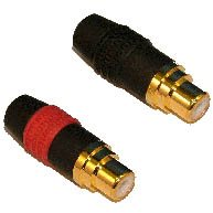 Neutrik Phono Socket (Pair) Black Housing, Gold Plated PIns NF2CLF/2 NF2CLF/2