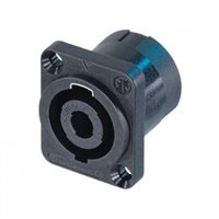 Neutrik Neutrik speakON 4-poliger Einbaustecker D-Form Flansch - NL4MP