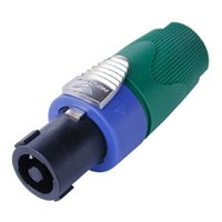 Neutrik SpeakON SPX 4 Pole Plug Cable 7-14mm Green Bush NL4FX-5