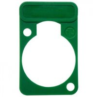 Lettering Plate Green for D-Chassis Connector DSS-Green by Neutrik