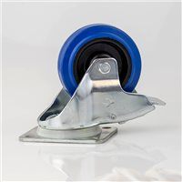 "100mm / 4"" Swivel Braked Castor with Blue Wheel W0985-V6 by Penn Elcom"