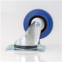 "Penn Elcom 80mm / 3"" Swivel Castor with Blue Wheel W0990/80"