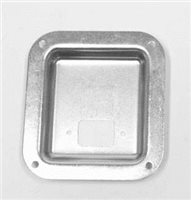 Penn Elcom Recess Dish punched for 1 euro socket Zinc 112 X 102mm