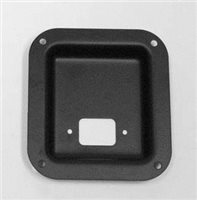 Penn Elcom Recess Dish Punched For 1 Jack Black 112 x 102mm