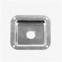 Penn Elcom Recess Dish Punched for 1 x Unified D Zinc 112 x 102mm
