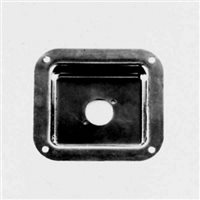 Penn Elcom Recess Dish Punched for 1 x Unified D Black 112 x 102mm