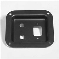 Penn Elcom Recess Dish Punched for 2 x J/Sockets & 1 x IEC Black 112 x 102mm
