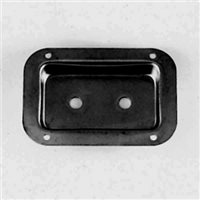 Penn Elcom Recess Dish Punched for 2 x Jack Sockets Black 130 x 89mm