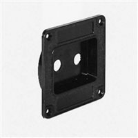 Penn Elcom Recess Dish Punched for 2 x Jack Sockets Plastic