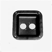 Penn Elcom Recess Dish Punched for 2 x Unified D Black 112 x 102