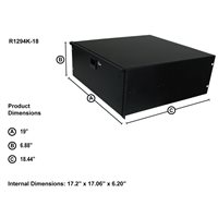 "Penn Elcom 4U Rack Drawer 455mm/18"" Deep R1294K/18"