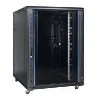 "Penn Elcom 42U 19 Inch Server Rack Enclosure 800mm/31.5"" Depth x 800mm/31.5"" Width Glass Door EMS-8842BK"