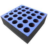 Penn Elcom Foam Insert for 25 Microphones fits 6U R/Drawer M6001