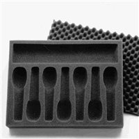 Penn Elcom Foam Insert for 7 Microphones M6002