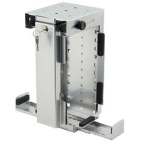 Penn Elcom Slimline Rigid Locking Computer Holder Silver CPU-87S/L-SLIM