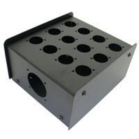 12 Hole Stage Box Punched for D-Series Connectors R2350-12 por Penn Elcom