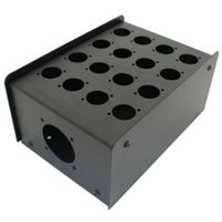 Penn Elcom 16 Hole Stage Box Punched for D-Series Connectors R2350-16