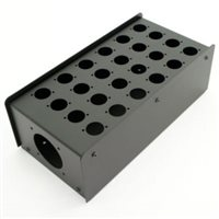 24 Hole Stage Box Punched for D-Series Connectors R2350-24 by Penn Elcom