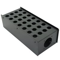 Penn Elcom 28 Hole Stage Box Punched for D-Series Connectors R2350-28