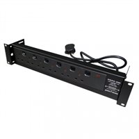 Penn Elcom 6 Way Rack Mount PDU with Individually Switchable Outlets PDU6SW