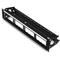 Penn Elcom 2U Rack Panel for 16 x Euro Module with Cable Support R2248-2UK
