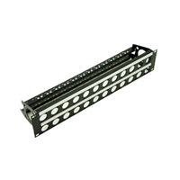 Penn Elcom 2U Rack Panel Punched for 24 D Series Connectors with Cable Mangement R2269-2UK-24