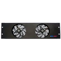 3U Fan Panel - Double Fans FP02-Q-3U by Penn Elcom