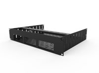Penn Elcom 2U Vented Rack Shelf & Magnetic Faceplate For 3 x Sonos Bridge R1498/2UK-SB3