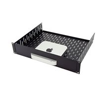 Penn Elcom 2U Vented Rack Shelf & Magnetic Faceplate For Mac Mini R1498/2UK-MACMINI13
